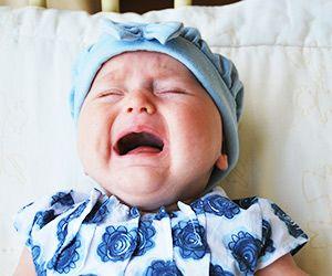 objawy ząbkowania - Płaczące dziecko