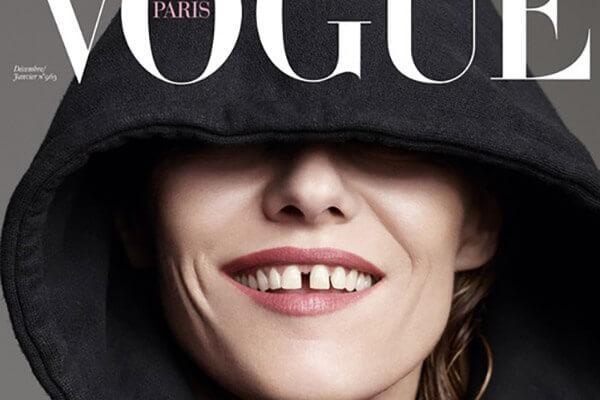 Diastema - zdjecie z czasopisma Vogue Paris